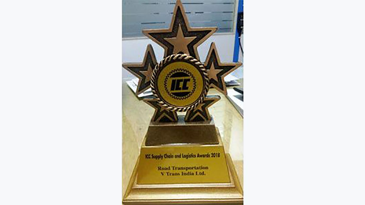 """Best Road Transport Company in India"""" for 2018, at 8th Edition – """"ICC – Supply Chain Logistics Summit & Excellence Award"""