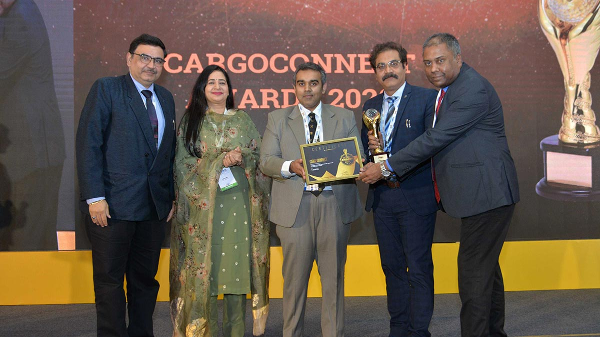 """Cargoconnect Award for the """"Express Service Provider of the Year – Pharma Shipments category."""